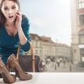 オフィスにハイヒール!オトナ女子の美脚魅せつけコーデ