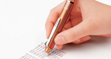 文房具(フリクションペン)を持っていく