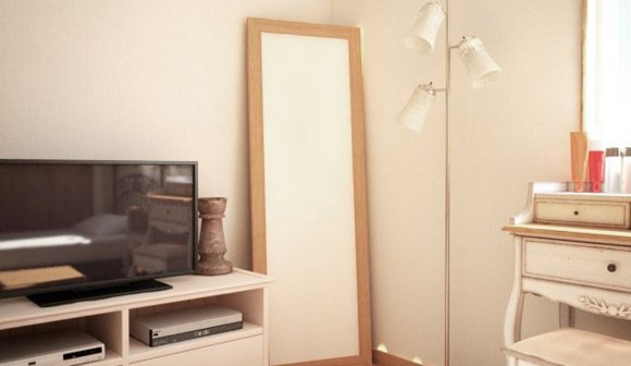 鏡を利用して視覚的効果を作る