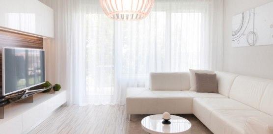 白を基調としたシンプルな部屋にする