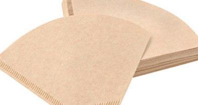 布や紙の繊維を使ってろ過する