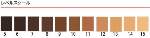 ヘアカラーの明るさを数字でチャート化