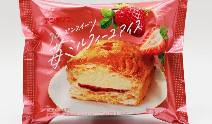 苺ミルフィーユアイス 188kcal(ファミリーマート)